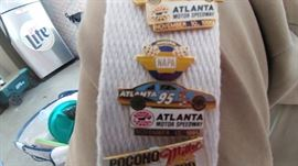 Daddy loved Nascar.  He had a collection of pins and patches from different races in different years.  Here is the pin from the Atlanta 500 that was held in 1995.  These pins are in the room with all the jewelry.