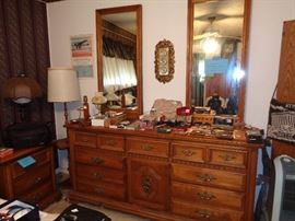 Riverside dresser with double mirrors