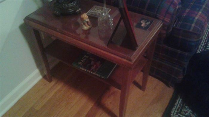 vintage end table, one of 2