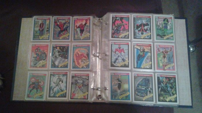 Comic Cards, a whole binder!!