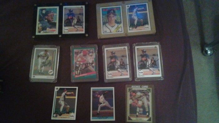 Various signed baseball cards
