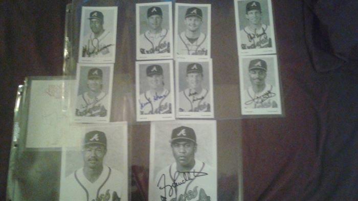 Signed baseball photos