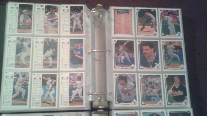 Baseball cards from 1990-1993