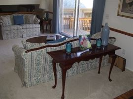 Sofa table and and couches