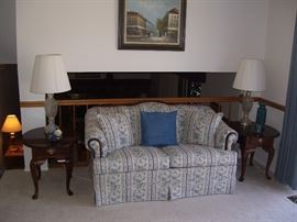 Love seat with Broyhill end tables.