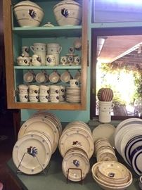 LARGE COLLECTION OF ROOSTER DISHES MADE IN ITALY