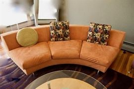 """Minotti Dubuffet Round sectional sofa - two sections present, both are available. Each section is 8' long, 36"""" deep."""