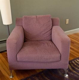 """B&B Italia """"Harry"""" armchair. Two available. 36"""" x 34"""" Lamp not for sale."""