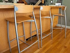 """Three Design Within Reach Baba Counter Stools - seat height 26.5"""""""