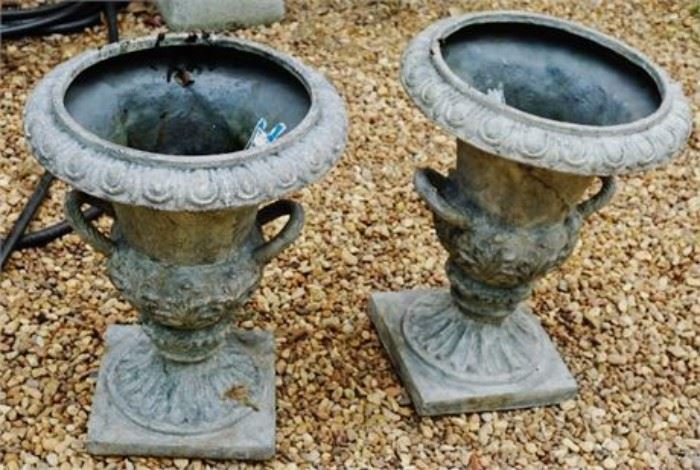 Lot 131. Pair of Composite Garden Planters