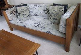 1991 Signed Stickley Oak Sofa