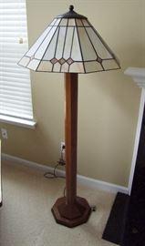 1991 Signed Stickley Oak Floor Lamp