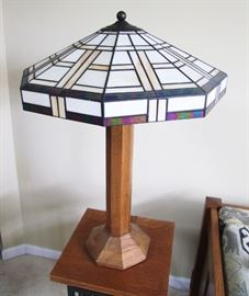1991 Signed Stickley Oak Table Lamp  2nd