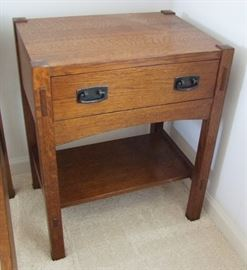 1995 Signed Stickley Night Stand - 1 of 2 in Auction (Part of Bedroom Suite)