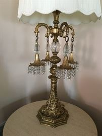 Large crystal lamp