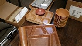 US Military Serving trays, bowls and cups