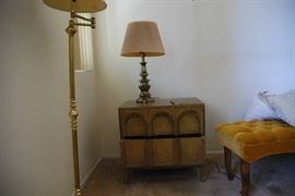 One of two nightstands/side tables.  MCM Thomasville.  Available for resale $300/pr