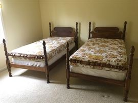 2- Twin Beds - Buy Now  Bed $65/ea & mattress $25/ea.