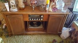 Working Stereo and turntable in Maple Cabinet Circa 1960's