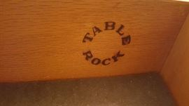 Name on inside of Sideboard and Server