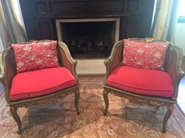 Pair French Repro. Chairs
