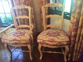 French Repro. Ladder Back Chairs