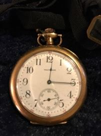 14K gold Waltham pocket watch.