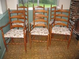 (6) Ladder back chairs
