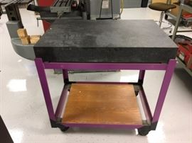 Precision Cutting Black Granite Work Table