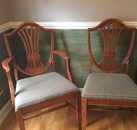 6 matching chairs