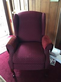 Pretty in Wine this vintage chair is as comfy as it looks