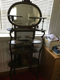 This Etagere/Jewelry vanity, she is sexy with all of her curves and mirrors