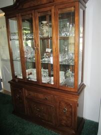 China cabinet by Bernhardt, has table and 6 chairs too