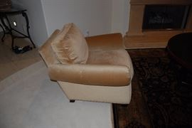 Pair of custom made mohair upholstered club chairs