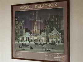 Michel Delacroix Signed Poster