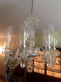 Large 8 globe crystal chandelier