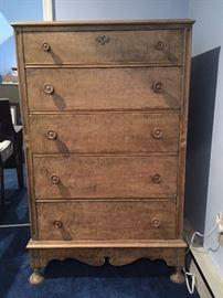 vintage high boy dresser