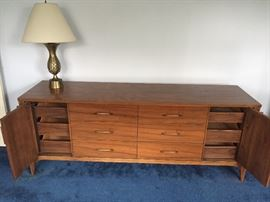 Mid century dresser with storage drawers
