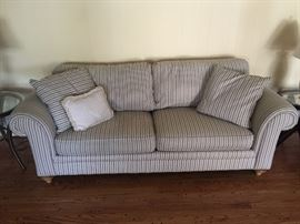 blue/white stripped couch