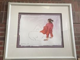 R.C. Gorman original artist proof (AP) signed and numbered. Appraisal value $400.