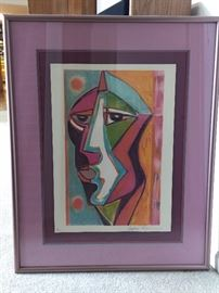 Rare - Anthony Quinn stone lithograph from the original, signed and numbered