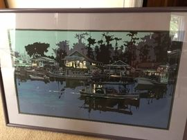1980's Ron Picou original prints, signed, dated and numbered - all framed