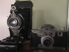 No 2c pocket Kodak vintage camera and cool mid century Mercury II 35m