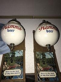 VINTAGE HAMM'S BEER SIGNS