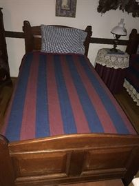 VINTAGE WOODEN TWIN BEDS
