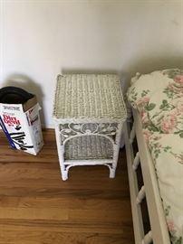 WHITE BEDROOM SET-TWIN BED, DESK AND DRESSER