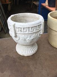 Antique concrete planter