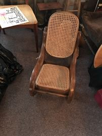 Bentwood cane child's size rocking chair. Excellent condition.
