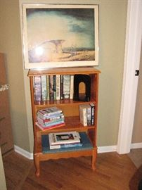 bookcase, Dali, books