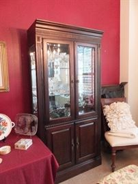 china cabinet - lighted